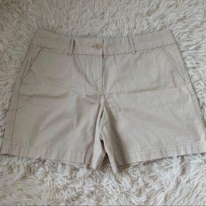LOFT khaki riviera shorts size 8